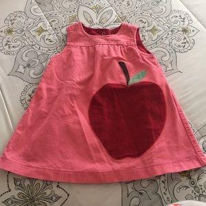 Mini Boden apple dress 6/12M